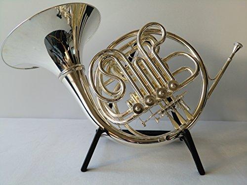 SYMPHONIE WESTERWALD Waldhorn/Doppelhorn/ French Horn in Bb/F, echt versilbert, inkl. Luxus-Hartschalenkoffer, Neu inkl. Zubehör