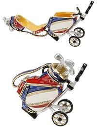 Red, White and Blue Golf Bag Trinket Box