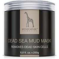 MOTHER NATURE COSMETICS DSMM, Mother Nature - Dead Sea Mud Face Mask | Care for dry, blemished skin | Cleansing for pimples - blackheads - acne | Anti-aging mask | 250 g (Beauty)