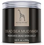 Totes Meer Schlamm Gesichtsmaske by Mother Nature Cosmetics - 250 g Anti-Aging Dead Sea Mud Mask für trockene und unreine Haut