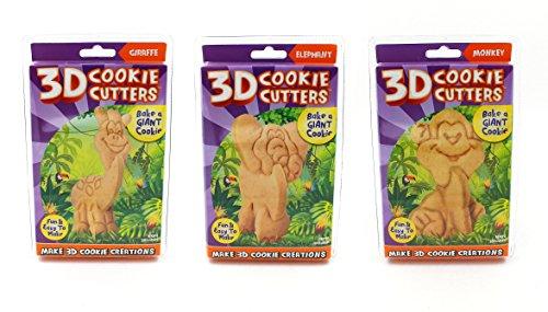 Nur für lacht 3D Ausstechformen 3er Pack Zoo Animals