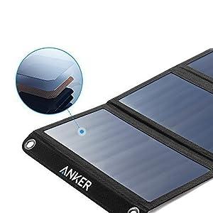 Anker PowerPort Solar Ladegerät 21W 2-Port, USB Solarladegerät für iPhone 7 / 7s / 6s / 6, iPad Air 2 / mini 3, Galaxy S7 / S6 / S6 Edge und Tablet, Kamera usw. by Anker