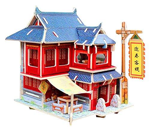 Blancho [China Inn] 3D Puzzle Papiermodell Zusammengebaute Kabine Haus Spielzeug DIY