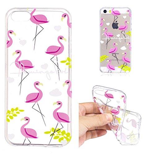 Coque pour Apple iPhone SE 5S / 5 , IJIA Transparent Couronne (Queen) TPU Doux Silicone Bumper Case Cover Shell Housse Etui pour Apple iPhone SE 5S / 5 LF7