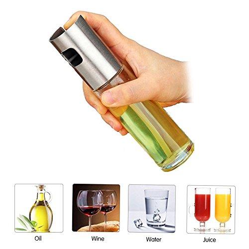 51T4sGQiSJL - SYSAMA Sprühpumpe Feinnebel Olivenpumpe Sprühflasche Ölsprüher für Rösten, Braten, Pasta, Salate, Bratpfannen, BBQ, Kochen und Grillen.Topf Kochen Ölspender Küchen Zubehör