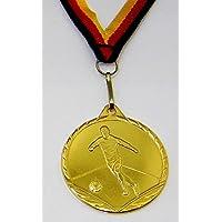 Medaille Metall 50mm incl Emblem gold- silver und bronzefarben mit Band Pokale & Preise