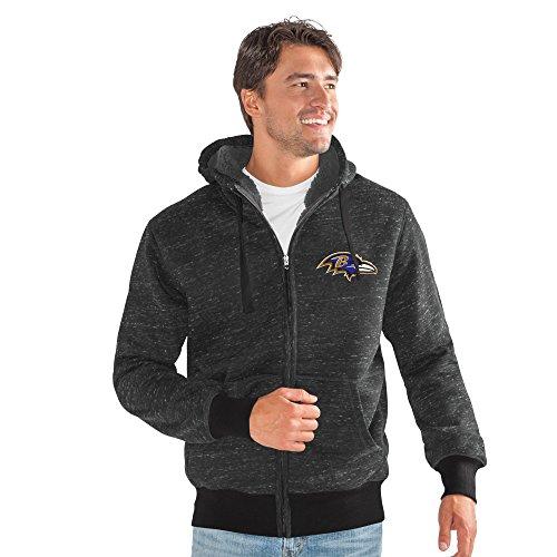 G-III Sports NFL Discovery Übergangsjacke, Herren, Discovery Transitional Jacket, schwarz, X-Large Sherpa Trim Fleece