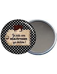ANGORA Miroir de poche Je suis une maîtresse qui déchire - Idée cadeau pour maitresse - fin d'année scolaire