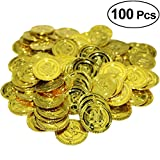 Yeahibaby 100 Pcs Pirate Party Gold Coins Pirates Gold Coins Favor