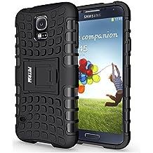 Funda Galaxy S5 , Funda S5 Neo, Fetrim Proteccion Cáscara Cases delgada de golpes Doble Capa de Tough Armor Anti-Shock de soporte de Protectora para Samsung Galaxy S5/S5 Neo (Negro)