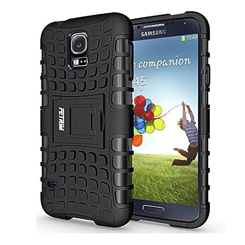 Coque Galaxy S5, Galaxy S5 Coque, Fetrim Armor Support Protection Étui,anti chocs Bumper Étui Hybride protection Housse Cover pour Samsung Galaxy S5/S5 Neo (Noir)
