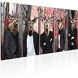 murando Bilder Hirsch 200x80 cm - Vlies Leinwandbild - 5 Teilig - Kunstdruck - Modern - Wandbilder XXL - Wanddekoration - Design - Wand Bild - Abstrakt Tiere g-C-0063-b-m