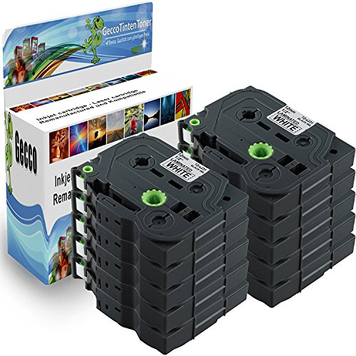 Premium 10x Schriftband Kassette Tape für TZ231 TZE231 TZ-231 TZE-231 TZE 231...