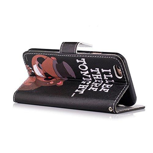 Coque Housse Etui iPhone 6S Cuir PU - Aeeque® Coque à Rabat Fonction Portefeuille de Carte Slots Support Bouton Magnétique Case Housse Cover Coque iPhone 6 / 6S 4.7 pouce [Plumes de Campanula] Motif #20