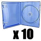 10Hüllen für Spiel PS4–Blau Transparent–Kauf durch X 10