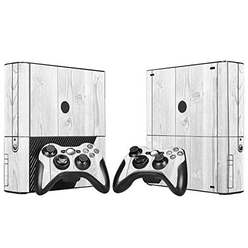 XBOX 360 E Skin Design Foils Pegatina Set - White Wood Motivo