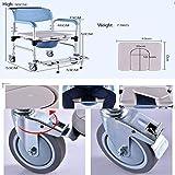 D&F Toilettenstuhl, Fahrbarer Duschstuhl, Toilettenrollstuhl, Rollstuhl Mit WC-Eimer, Aluminiumlegierung für D&F Toilettenstuhl, Fahrbarer Duschstuhl, Toilettenrollstuhl, Rollstuhl Mit WC-Eimer, Aluminiumlegierung