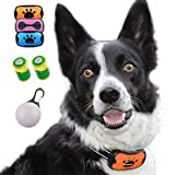 Anti Bark Collar, Stop Dog Barking with Sound & Vibration, No Shock Humane Training Collar, Small, Medium & Large Dogs, Safely Stop Barking – FREE Blue, Orange and Pink Covers