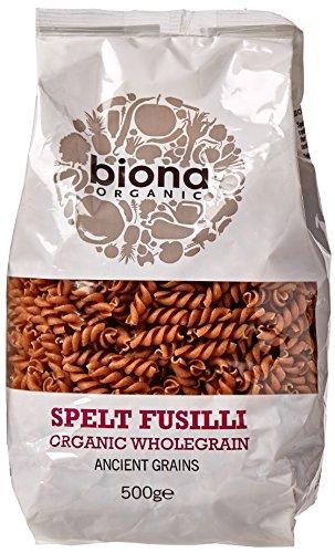 Biona Organic Wholewheat Spelt Fusili 500g (Pack of 5)