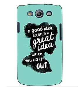 Fuson Designer Back Case Cover for Samsung Galaxy S3 Neo I9300I :: Samsung I9300I Galaxy S3 Neo :: Samsung Galaxy S Iii Neo+ I9300I :: Samsung Galaxy S3 Neo Plus (Lady Mind Thought Theme)