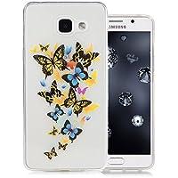Samsung Galaxy A5 2016 Coque, Aeeque® Élégant Papillons Colorés Motif Housse de Protection en Silicone TPU Résistant aux Chocs Cas Couverture Etui pour Samsung Galaxy A5 2016 5.2 pouces