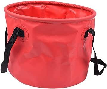 Toygogo Faltbarer Wassereimerhalter Für Den Außenbereich Leakproof Folding Pail Red Sport Freizeit