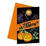 PARTY DISCOUNT NEU Einladungskarten Halloween New, 6 Stk.