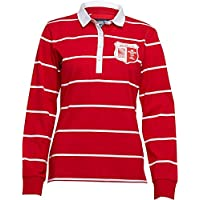 Rugby World Cup Damen WRU Wales Rugby Jersey Flagge rot