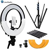 LimoStudio 14 Inch Diameter LED Ring Light With Heavy Duty Tripod Stand
