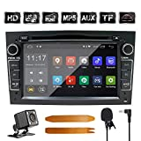 Auto Stereo Android 8.1 Radio DVD Player GPS NAVI 7 Inch IPS 2 Din Fits für Opel Antara Vectra Crosa Vivaro Zafira Meriva mit Rear Camera Support Bluetooth WiFi 4G Spiegel Link USB SWC OBD (Schwarz)