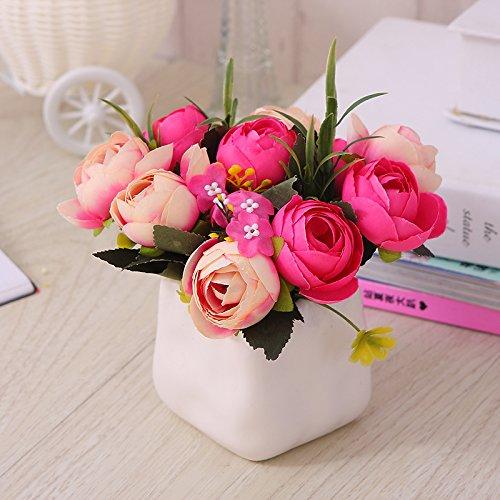 Self-My Künstliche Blumen Emulation Ist Eine Schaukel In Der Kreativen Kleinen Topfpflanzen Indoor Simulation Rote Partei Tasse Tee In Der Rot Gefälschte Blumen