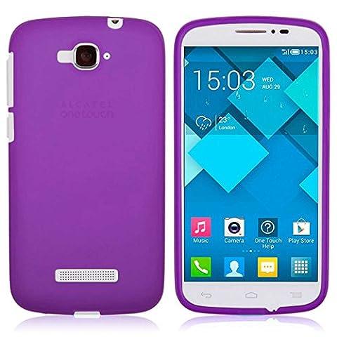 TBOC® Lila Gel TPU Hülle für Alcatel One Touch Pop C7 Ultradünn Flexibel Silikonhülle