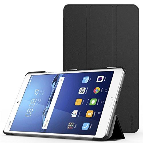 MoKo Huawei MediaPad M3 8.4 Hülle - Ultra Slim Lightweight Schutzhülle Smart Cover Standfunktion für Huawei MediaPad M3 8.4 2016 Tablet-PC perfekt geeignet, Schwarz