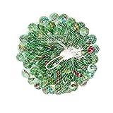 EbyReo Murmeln - Glasmurmeln im praktischen Netz - Glaskugeln zum Spielen oder als Dekoration - Murmelbahn
