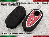 GUSCIO CHIAVE COVER ALFA ROMEO MITO GIULIETTA IN SILICONE GOMMA 3 TASTI NERA