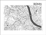 Poster 40 x 30 cm: Stadtplan von Bonn von 44spaces -