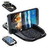 Mobilefox KFZ Auto Anti Rutsch Matte Haft Pad Armaturenbrett Handy Halter HTC 10 Desire 526G 626 626G 628 630 816G 820 825 One A9s M8s M9 S9 X9 mini