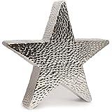 Stern Keramik gehämmert silber modern Design 28 cm Weihnachtsdekoration Cor Mulder