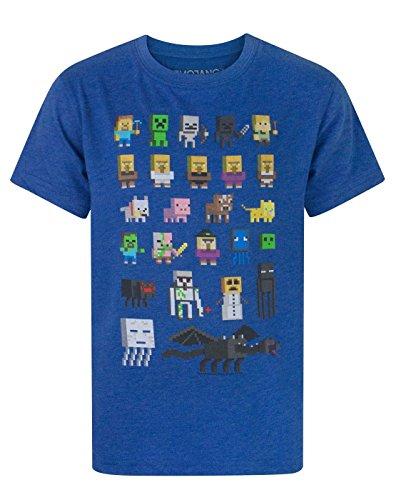 Jungen - Minecraft - Minecraft - T-Shirt (7-8 Jahre) (Minecraft Kinder T-shirts)