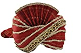 Egypt Bazar Indischer Maharaja-Turban- Paghdi Herren Fasching Bollywood Fasching Kopfbedeckung, Farbe: weinrot