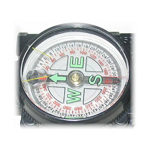 edi-tronic Peil & Marschkompass mit Tasche Metall Bundeswehr Kompass Militär Military Scout