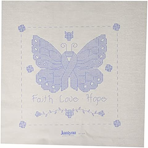 Butterfly Of Hope Quilt Blocks Stamped Cross Stitch-15