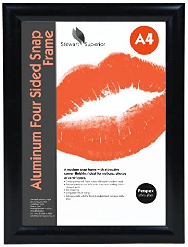 seco, AM9-A4SV - Front Load Easy Open Poster Snap Frame For Retail Display, Comes with A Silver Anodised Aluminium Finish -