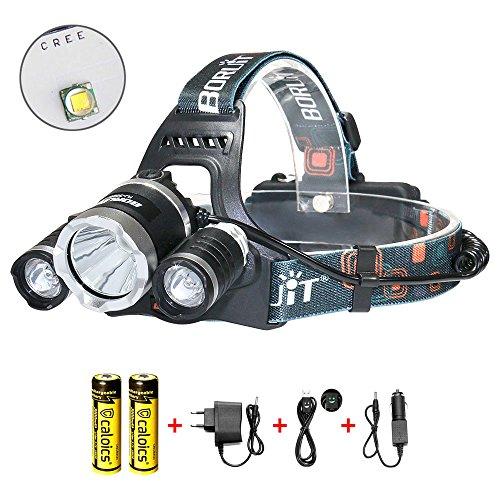 Superheller Stirnlampe Kopflampe, Hiwild 5000 lumen USB aufladbar Baumarkt Fahrradlicht Lighting Angeln Beleuchtung Teichbeleuchtung Camping Laternen Survival-Kits Stirnlampen