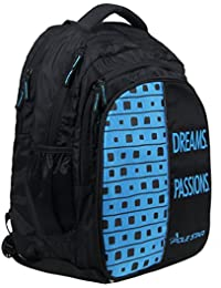 "POLE STAR ""BIG-4"" Polyester 40L Black and Sky Blue Backpack"