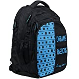 "POLE STAR ""BIG-4"" 40 Lt Black Skyblue Casual Backpack I School Bag"