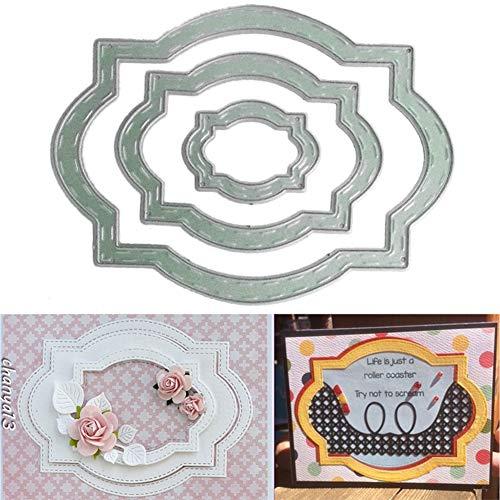 , DIY, genähter Rahmen, Metallstanzformen, DIY Scrapbook, Papier, Karten, Album, Schablone - Silber ()