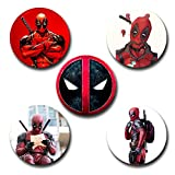 #3: Capturing Happiness Deadpool Button pin Badge Pack Of 5