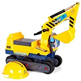 boppi Ride On Children\'s Digger with Hard-Hat - Yellow
