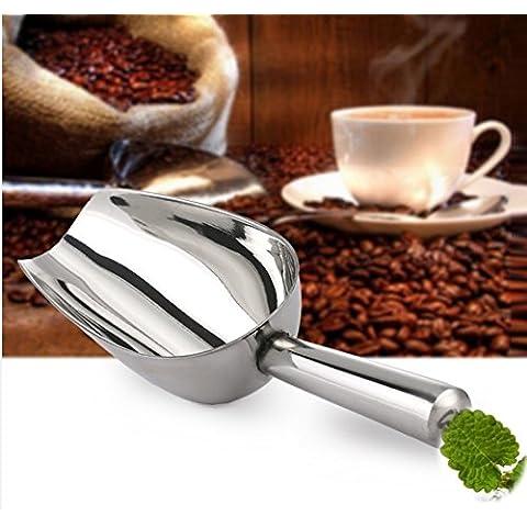 Lautechco® 8 Inch Stainless Steel Ice Cube Shovel Scoop Scraper For Ice Bucket Multifunctional Bar Tools Tea Coffee Bean Scoop by Lautechco®
